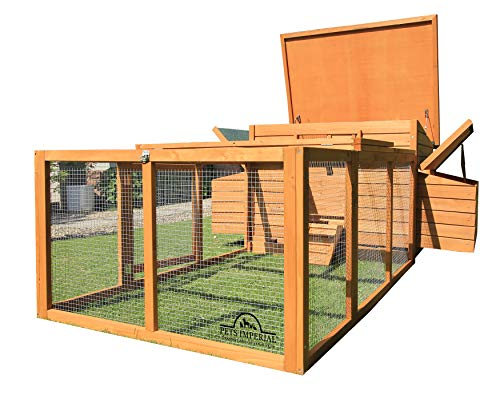 "Pets Imperial Balmoral Double Large Chicken Coop with 4ft 6"" Run Suitable for Up to 8 Birds Depending on Size"