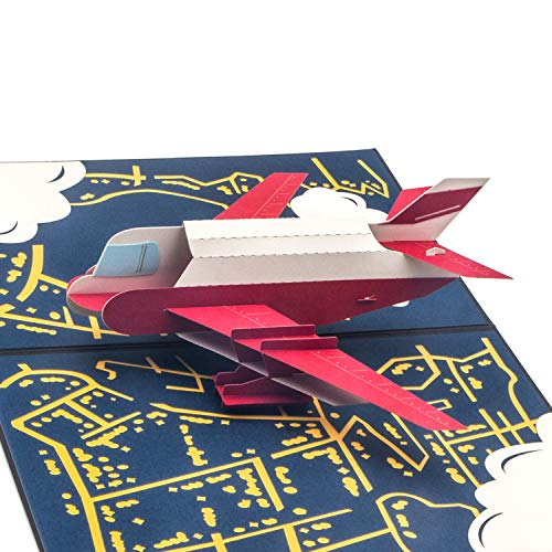 Ribbli Airplane Handmade 3D Pop Up Card,Greeting Card,Thank You Card,Aircraft Card,Plane Card,For Birthday Card,Boy Card,Father Card,Mother Card,Anniversary Card