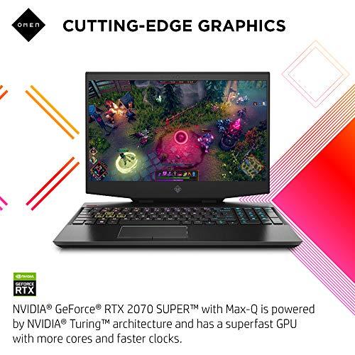 OMEN 15 Gaming Laptop, NVIDIA GeForce RTX 2070 Super Max-Q, Intel Core i7-10750H, 32 GB DDR4 RAM, 512 GB PCIe NVMe SSD, 15.6