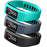 SKYLET Compatible with Garmin Vivofit 1 Bands, Soft Silicone Replacement Sport Wristands for Vivofit 1 with Metal Buckle Men Women (No Tracker)