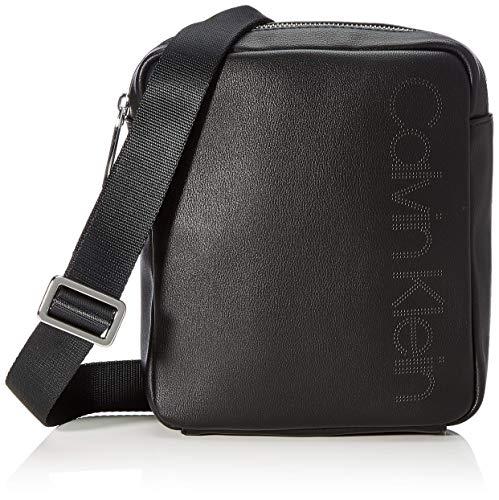 Calvin Klein Punched Mini Reporter - Borse a spalla Uomo, Nero (Black), 0.1x0.1x0.1 cm (W x H L)