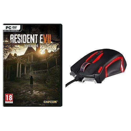 Resident Evil 7: Biohazard + Konix Valkyrie - Ratón para juegos, color negro