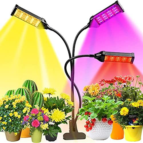 JklausTap LED-Pflanzenlicht Vollspektrum, Zimmerpflanzen-Gewächshaus-Pflanzenlicht, Verstellbarer Schwanenhals, wachsendes Licht für Sämlinge und Sukkulenten