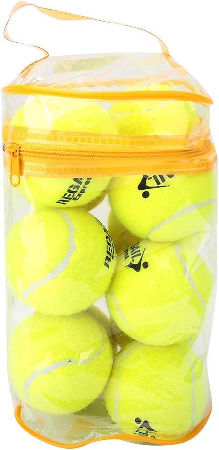 Ruiqas 12PCS High Elastic Sport Tennis Balls Professional Traini