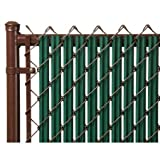 Ridged Slats Slat Depot Single Wall Bottom Locking Privacy Slat for 3', 4', 5', 6', 7' and 8' Chain Link Fence (4ft, Green)
