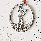 Handmade Male Golfer Swinging Golf Club Christmas Ornament - Man Golfing Keepsake Gift Idea for Father's Day