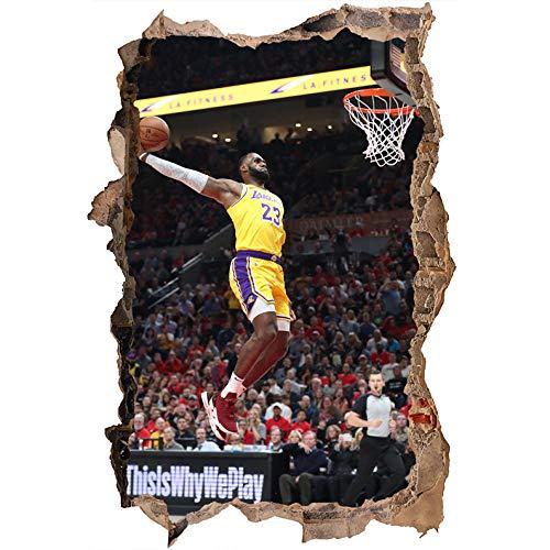 Nensuo 3D York Knicks NBA Basketball Home Decor Art Wall Vinyl PVC Sticker 60 * 90CM-E_60*90CM