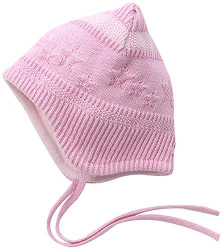 maximo Baby-Mädchen Kastenmütze, ausgenäht, Bindeband, Sterne, Perlmuster Mütze, Mehrfarbig (mandelblüte/artikweiß 5901), 45 cm (Herstellergröße: 45)