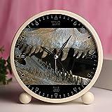 GIRLSIGHT Alarm Clock, Bedroom Tabletop Retro Portable Clocks with Nightlight Custom Designs Dinosaurs 334_Queen Cryolophosaurus Ellioti theropod Dinosaur