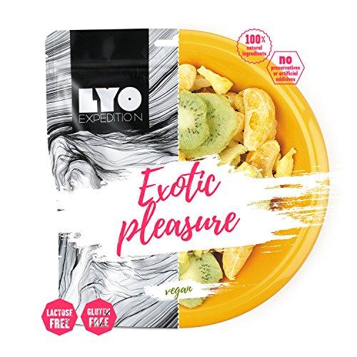 LYOFOOD Exotischer Genuss 30g Gefriergetrocknetes Obst Früchte Glutenfrei Nahrung Trockenfrüchte Ohne Zucker Diät Vegan Vegetarisch