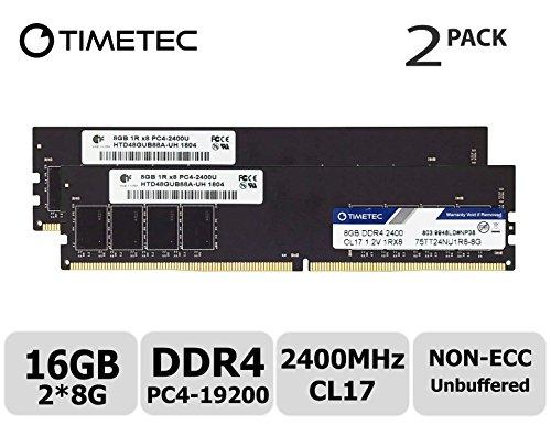 Timetec Hynix IC DDR4 2400MHz PC4-19200 Non ECC Unbuffered 1.2V CL17 2Rx8 Dual...