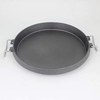 gyl Cast Iron Grill Pan Korean Barbecue Grill Barbecue Plate Teppanyaki Pan Consumer and Commercial Grill Pan Teppanyaki Steak Teppanyaki,26cm
