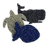 Seifenheber, 3 Stück, mit Schildkröte, Fisch und Wal, Seifenschale und Seifenhalter, Zubehör –...
