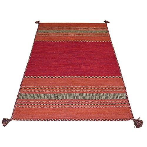 WEBTAPPETI Tapis Oriental Salon 100% Coton Antique Kilim Red Cm. 140x200 Rouge