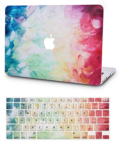 KECC Laptop Case for MacBook Pro 13' (2020/2019/2018/2017/2016) w/Keyboard Cover Plastic Hard Shell A2159/A1989/A1706/A1708 Touch Bar 2 in 1 Bundle (Fantasy)