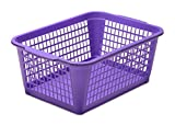 YBM HOME Plastic Perforated Storage Basket Bin Office Drawer, Shelf...