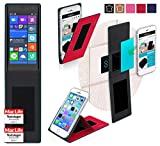 Hülle für Nokia Lumia 730 Tasche Cover Hülle Bumper | Rot | Testsieger