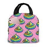 Rainbows and Hearts Bolsa de almuerzo aislada portátil, bolsa Bento impermeable para oficina, escuela, senderismo, playa, picnic, pesca