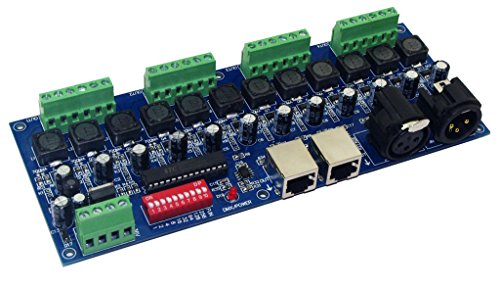 Constant Current 350mA 12CH Dimmer 12 Channel DMX512 Decoder Controller DMX convertor DC5-36V