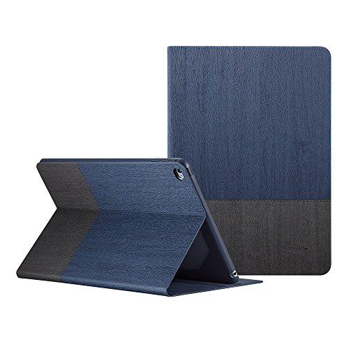 ESR iPad Air2 ケース iPad Air2 カバー 軽量 シンプル 柔らかな内側 スタンド機能 オートスリープ スリム 傷つけ防止 二つ折 iPad Air2 スマートカバー 灰紺色