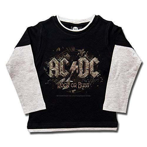 AC/DC (Rock or Bust) - Kids Skater Shirt Größe 104