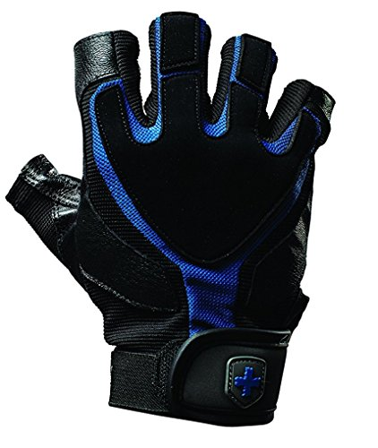 Harbinger Training Grip Weight Lifting Gloves–Black/Blue, S