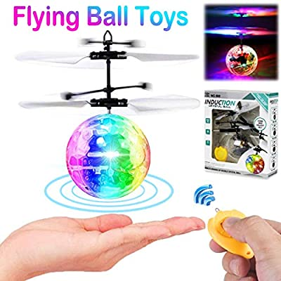 Lotiang Flying Ball Toys for Kids, RC Toys for Boys Girls Birthday Party Easter Gift Rechargeable Light Up Ball Drone Infrared Induction Helicopter with Remote Control for Indoor Outdoor Games