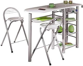 Inter Link Frolly 1 Mesa de Cocina con 2 taburetes de Bar
