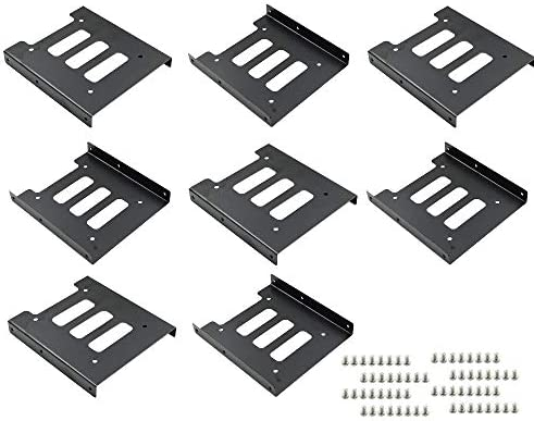 TUOREN 8Pcs 2 5 to 3 5 SSD HDD Hard Disk Drive Bays Holder Metal Mounting Bracket Adapter with product image