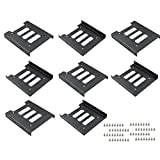 TUOREN 8Pcs 2.5' to 3.5' SSD HDD Hard Disk Drive Bays Holder Metal Mounting Bracket Adapter with Screws for PC