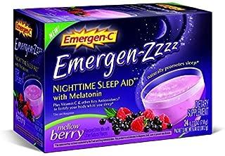 Emergen-C Emergen-zzzz Nighttime Sleep Aid with Melatonin, Mellow Berry 24 ea (Pack of 2)