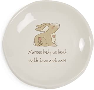 Pavilion Gift Company 78071 Heavenly Woods - Nurses Help us Heal with Love and Care Bunny Jewelry Dish