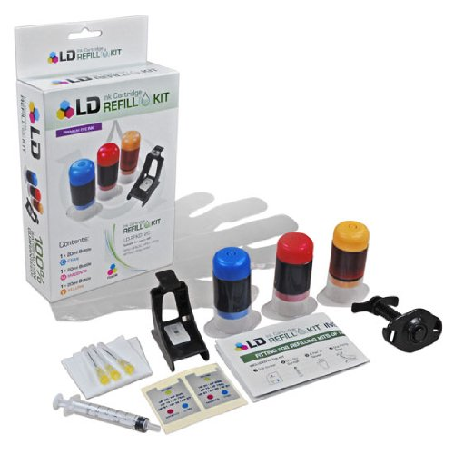 LD © Color Ink Refill Kit For Hewlett Packard CH562WN (HP 61/61XL)