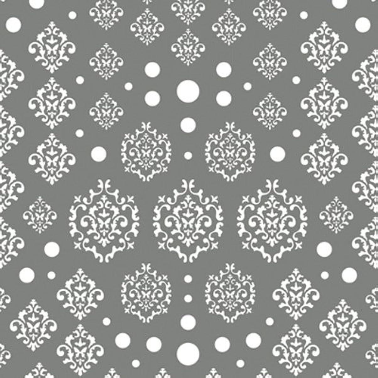 宗教的な幸福タイヤツメキラ(TSUMEKIRA) ネイル用シール agehaダマスク ホワイト NN-AGE-101