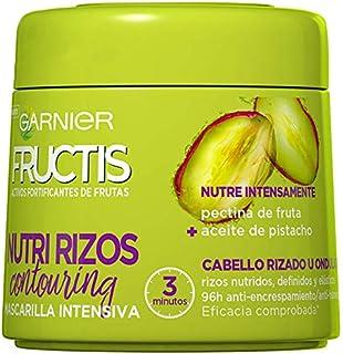 Garnier Fructis Nutri Rizos Contouring Mascarilla Intensiva Fortificante que Nutre y Define con Pectina de Fruta y Aceite...