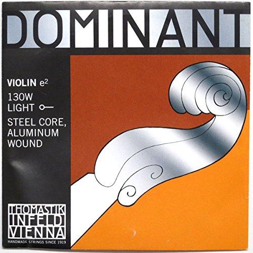 Thomastik enkelsnaren voor 4/4 viool Dominant - E-snaar-stalen kern, aluminium. omspinnen, zacht, kogel