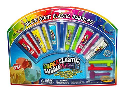 Nowstalgic Toys Super Elastic Bubble Plastic Party Pack-6 Color Tubes