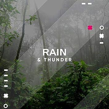 8 Hours Sleep - Heavy Rain and Rolling Thunder