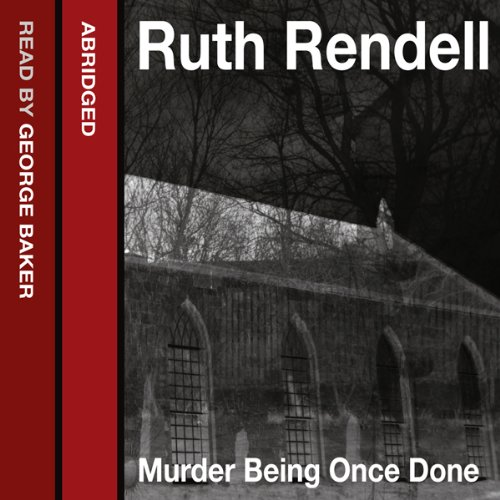 Murder Being Once Done audiobook cover art