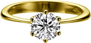 14K Gold Moissanite Forever Classic 8.00MM (1.51CT Moissanite Weight,1.90CT Diamond Equivalent Weight) Engagement Ring