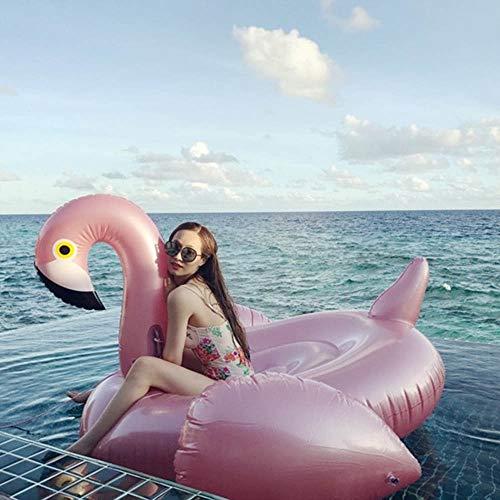 Water Beach Beach Zwembad Opblaasbare Flamingo Drijvende Rij Volwassen Zwemmen Ring Speelgoed Water Riding Water Bed Drijvend Bed Sofa 195X200x120cm Water Drijvende Bed Zwembed