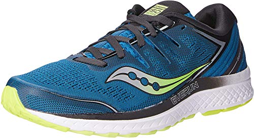 Saucony Men's S20464-2 Guide ISO 2 Running Shoe, Marine | Citron - 9 M US