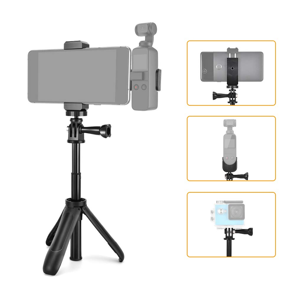 UTEBIT Mobile Phone Holder Mount Compatible for dji Osmo Pocket 26cm Aluminum Alloy Tripod Extension Arm with 1/4