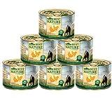 Dehner Best Nature Katzenfutter Adult, Geflügel und Leber mit Haferflocken, 6 x 200 g (1.2 kg)