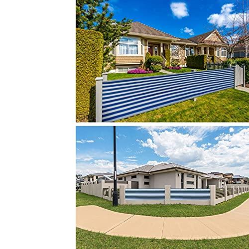 GDMING Balkong insynsskydd, 0,75 m/0,9 m trädgård skuggstaket utomhus solskydd skydd med buntband och genomföringar, anpassningsbar (färg: Blå, storlek: 0,75 x 5 m)