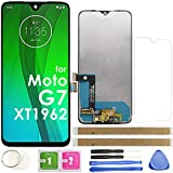 G7 LCD Screen Replacement Touch Display Digitizer Assembly 6.2' 153mm (Black) for Motorola Moto G7 XT1962 XT1962-4 XT1962-5 6.2 Inch with Repair Tools and Screen Protector