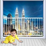 WAOWAO Window Safety Guards for Children Kids Child Toddler Pets Proof Extra Wide White Tension Security Window Guard Gate for Home Fit 31.50'-86.62' Sliding Windows (4 Piece(86.61'-111.81'))
