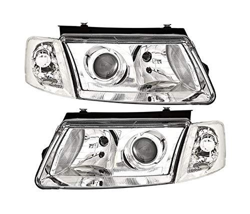 V-MAXZONE VP125 Jeu de phares en verre transparent chromé pour conduite à gauche et à droite