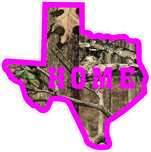 Texas Camo Pink Home State Pride Decal Sticker NRA NWTF Lonestar Country Girl