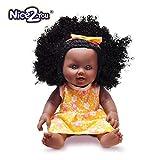 Nice2you African American Schwarz Puppe lebensechte 12 Zoll Baby Reborn Puppen für Kinder Kinder